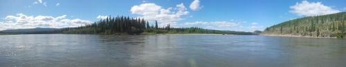 poprvé vidíme Yukon ze Stewart River