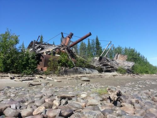 parník navždy odstavený z dosahu Yukonu