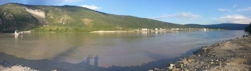 na opačné straně Yukonu - pohled na Dawson