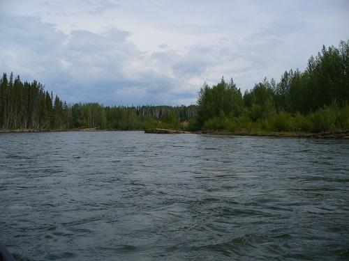 řeka teče slušně rychle